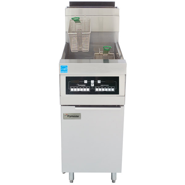 Frymaster HD50G Natural Gas 50 lb. High Efficiency Decathlon Floor Fryer with CM3.5 Controls