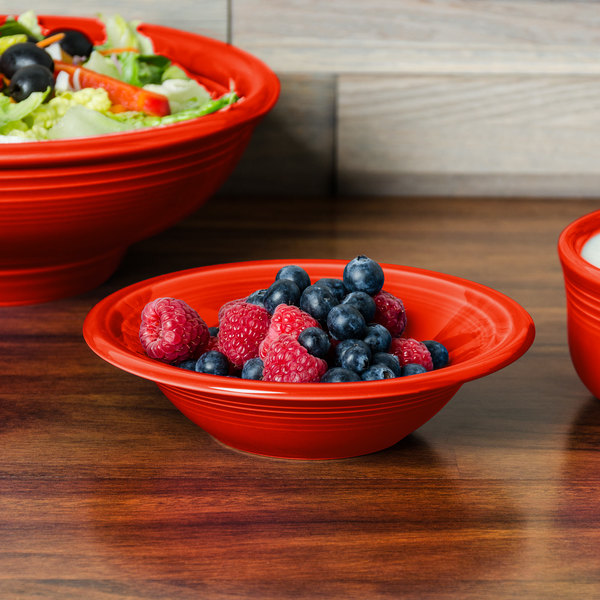 Homer Laughlin 472338 Fiesta Poppy 11 oz. Stacking Cereal Bowl - 12/Case