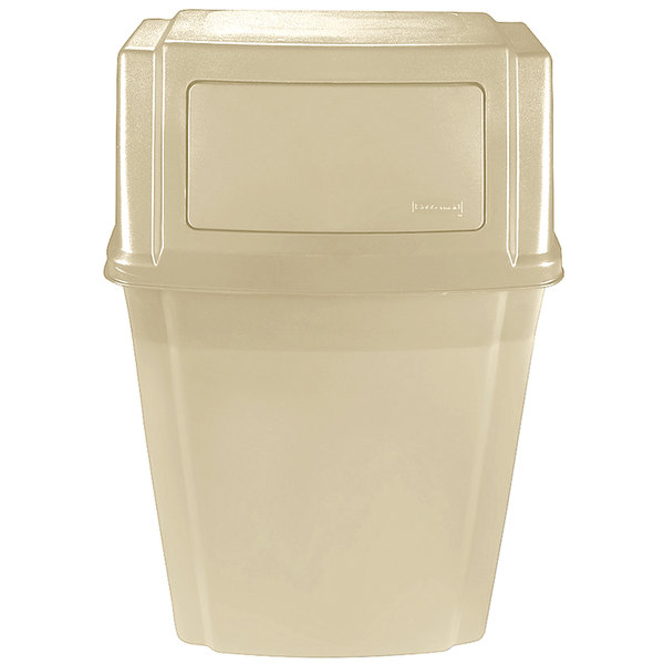 Rubbermaid FG782200BEIG Beige 15 Gallon Wall Mount Trash Can