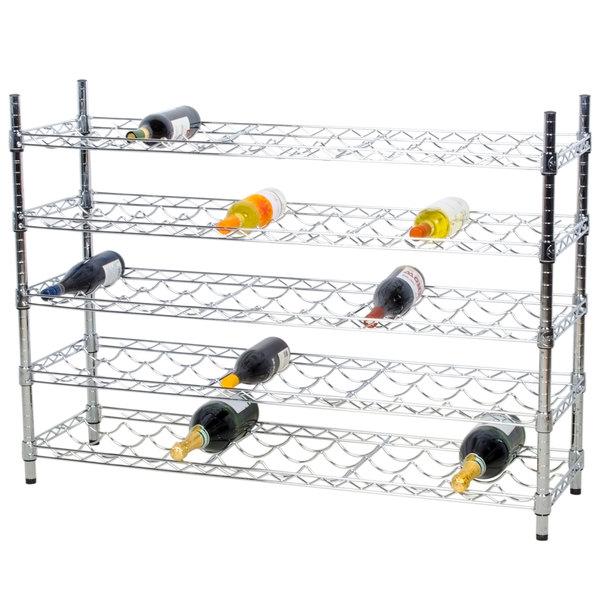 """Regency 14"""" x 48"""" 5 Shelf Wire Wine Rack with 34"""" Posts"""