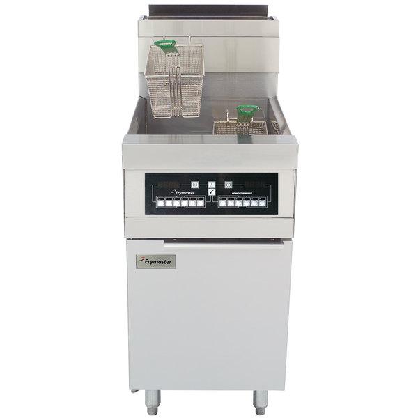 Frymaster HD60G-CBL Natural Gas 80 lb. High Efficiency Decathlon Floor Fryer with CM3.5 Controls and Basket Lift