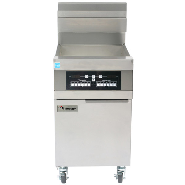 Frymaster 11814 Natural Gas 63 lb. High Production Floor Fryer with CM3.5 Controls - 119,000 BTU