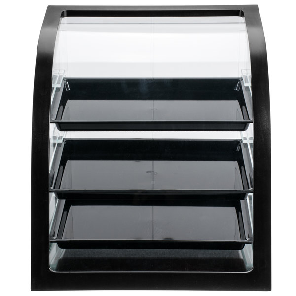 """Cal-Mil P255-96 Midnight Bamboo Euro Style Display Case with Rear Door - 17"""" x 17"""" x 18"""""""
