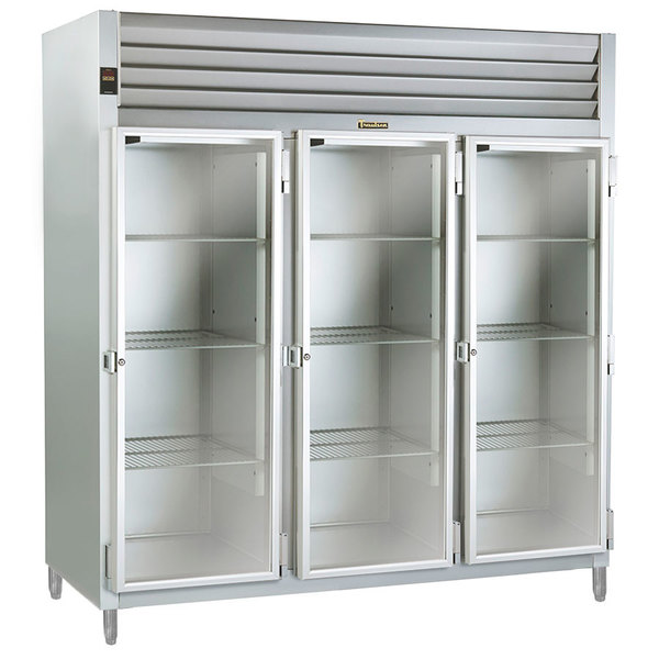 Traulsen AHF332WP-FHG 83.2 Cu. Ft. Glass Door Three Section Reach In Pass-Through Heated Holding Cabinet - Specification Line