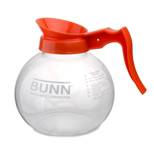 Bunn 42401.0101 64 oz. Glass Decanter with Orange Handle