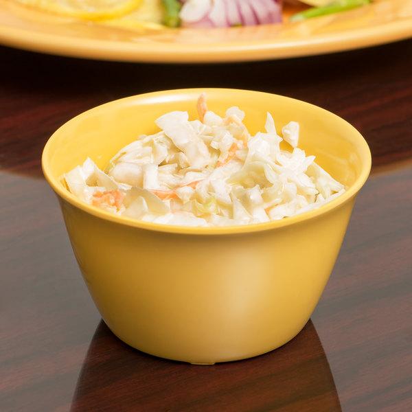 Carlisle 4354022 Dallas Ware 7.5 oz. Honey Yellow Bouillon Cup - 24/Case