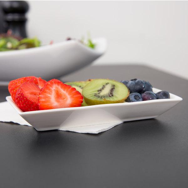 American Metalcraft PORSD3R 3 Compartment White Porcelain Sauce Dish