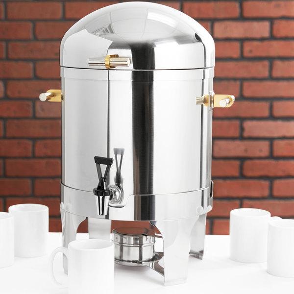 Vollrath 46094 5 Gallon New York, New York Coffee Urn with Brass Trim