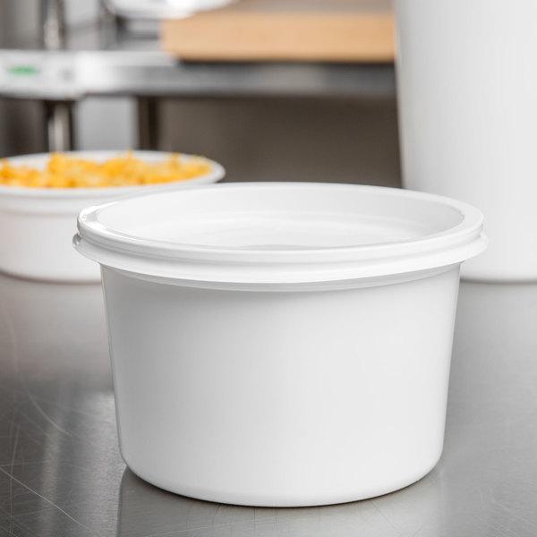 Solo MicroGourmet 16NW-0007 16 oz. White Polypropylene Deli Container - 500/Case Main Image 9