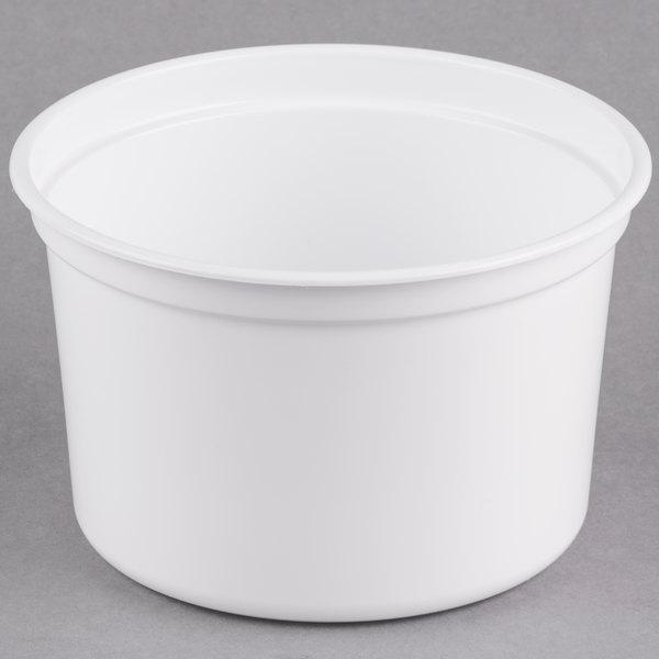 Dart Solo MicroGourmet 16NW-0007 16 oz. White Polypropylene Deli Container - 500/Case