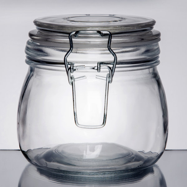 Apothecary Jars Part - 31: If You Operate A Restaurant, Cafe, Deli, Or Catering Business, Then This  American Metalcraft HMJ4 16 Oz. Hinged Apothecary Jar Is An Ideal Product  For You.