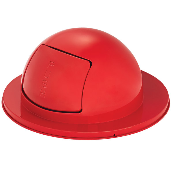 Rubbermaid FG1855RD Red Steel Drum Dome Top Lid