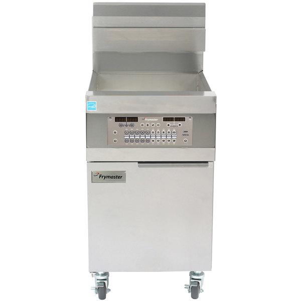 Frymaster 11814G Natural Gas Single High-Production 63 lb. Floor Fryer with SMRT4U 3000 Controls - 119,000 BTU Main Image 1