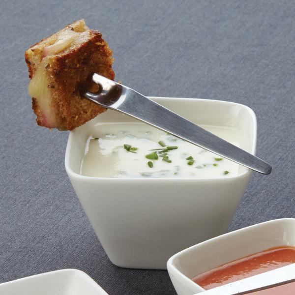 American Metalcraft PORB30 6.5 oz. White Square White Porcelain Sauce Cup