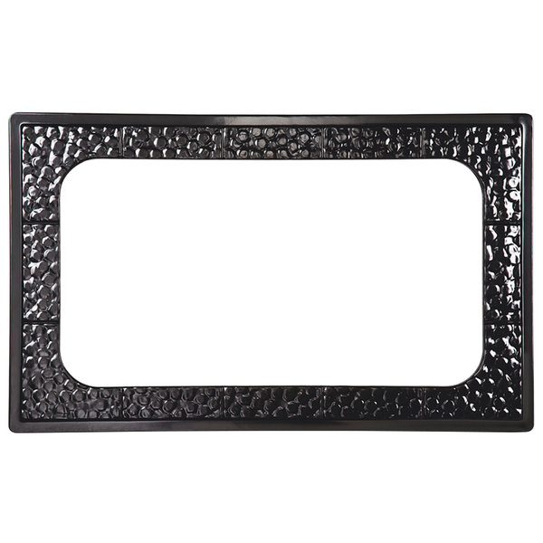 GET ML-163 Full Size Black Melamine Adapter Plate with Cut-Out for ML-176 8 Qt. Casserole Dish