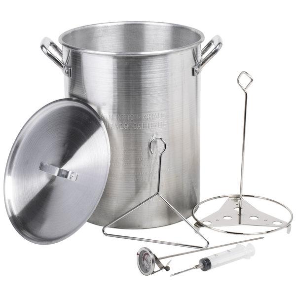 Fry succulent turkeys up to 20 lb. with the Backyard Pro 30 qt. aluminum  fryer / stock pot! - Turkey Fryer Pot Backyard Pro 30 Quart Turkey Fry Pot