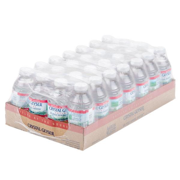 Crystal Geyser 8 oz. Natural Spring Bottled Water - 28/Case