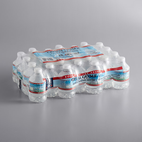 Crystal Geyser pack of 28 small water bottles
