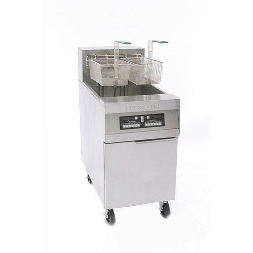 Frymaster RE180 80 lb. High Production Electric Floor Fryer, CM3.5 Controls - 208V, 3 Phase, 17 KW Main Image 1