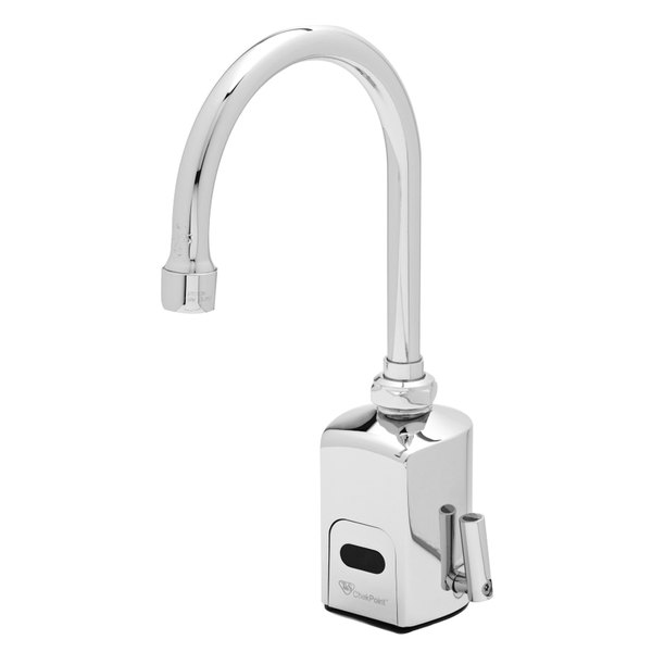 "T&S EC-3130-VF05 4 7/8"" Electronic Hands Free 0.5 GPM Deck Mount Faucet with Cast Spout"
