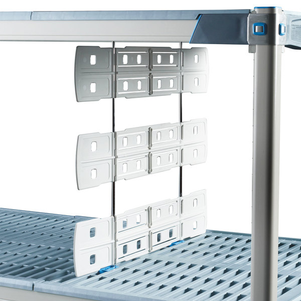 """Metro MD24-20 24"""" Shelf-to-Shelf Divider for Open Grid and Wire Shelves - 20"""" High"""