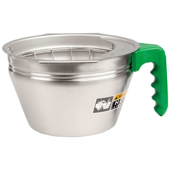 Bunn 32643.0007 Stainless Steel Funnel Assembly with Green Handle for Dual Soft Heat Coffee Brewers