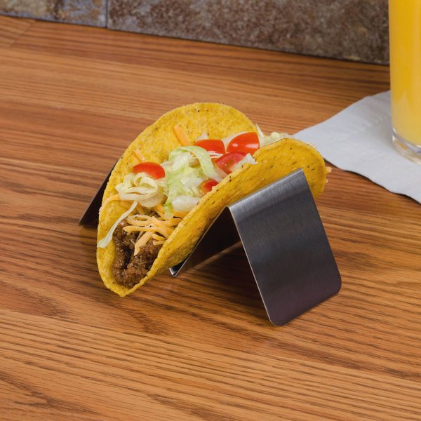 American Metalcraft HTSH1 Stainless Steel Half Size Taco Holder with One or Two Compartments - 5\  x ... & American Metalcraft HTSH1 Stainless Steel Half Size Taco Holder with ...