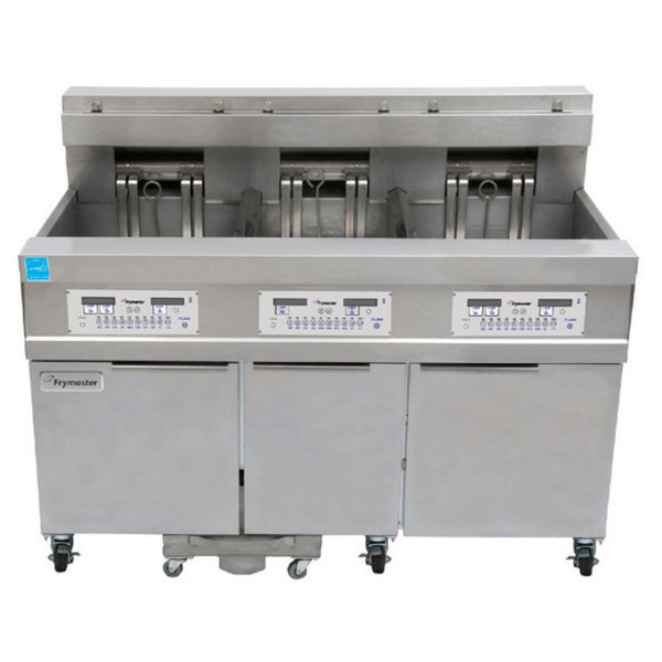 Frymaster 11814E/RE17/11814E 170 lb. High Production Electric Floor Fryer with SMART4U Lane Controls - 208V, 3 Phase, 17 kW Main Image 1