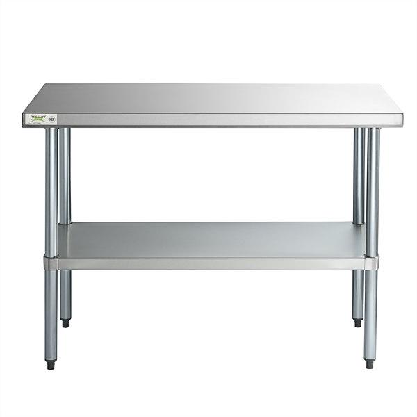 24 X 48 Stainless Steel Work Table W Undershelf