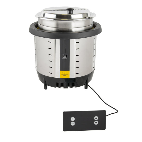Vollrath 74701D Mirage 7 Qt. Silver Drop-In Induction Rethermalizer - 120V, 800W Main Image 1