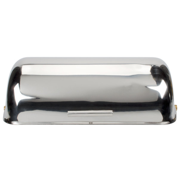 Choice 8 Qt. Supreme Full Size Roll Top Chrome Trim Chafer Cover