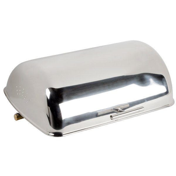 Choice 8 Qt. Supreme Full Size Roll Top Chrome Trim Chafer Cover Main Image 1