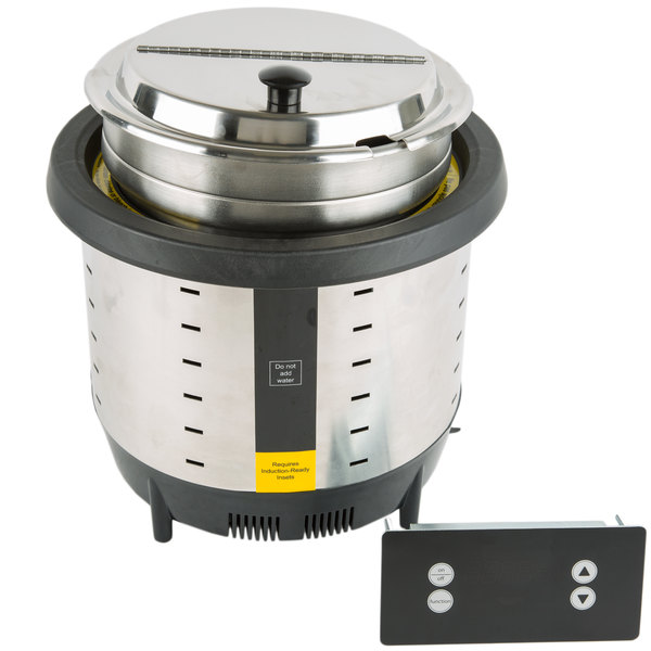 Vollrath 74701DW Mirage 7 Qt. Silver Drop-In Induction Warmer - 120V, 250W Main Image 1