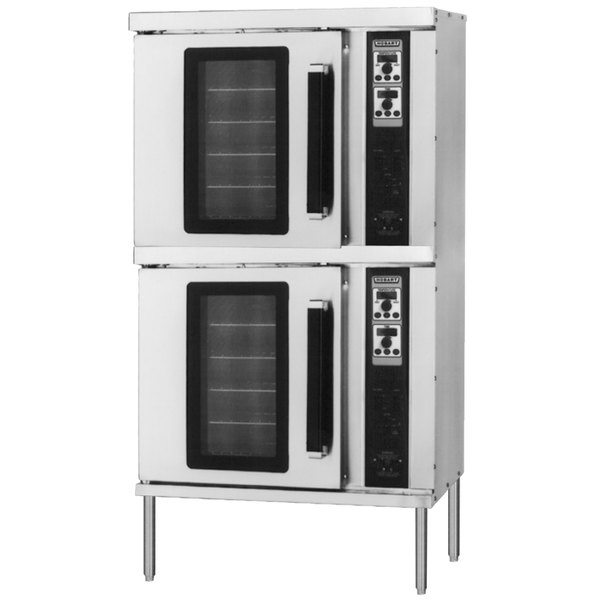 Hobart HEC202 Double Deck Half Size Electric Convection Oven - 208V, 3 Phase, 11 kW Main Image 1