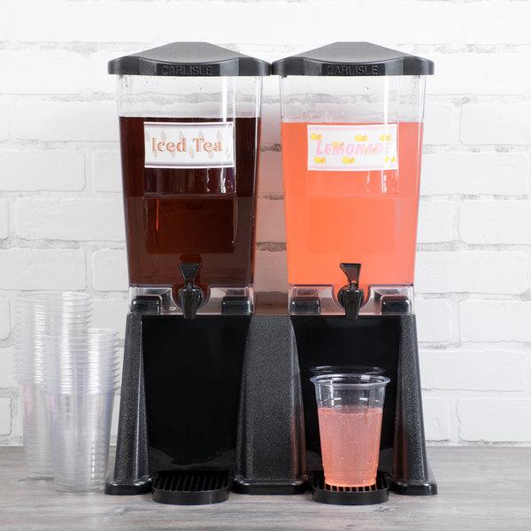 Carlisle 1085303 TrimLine 6 Gallon Black Economy Double Base Beverage Dispenser