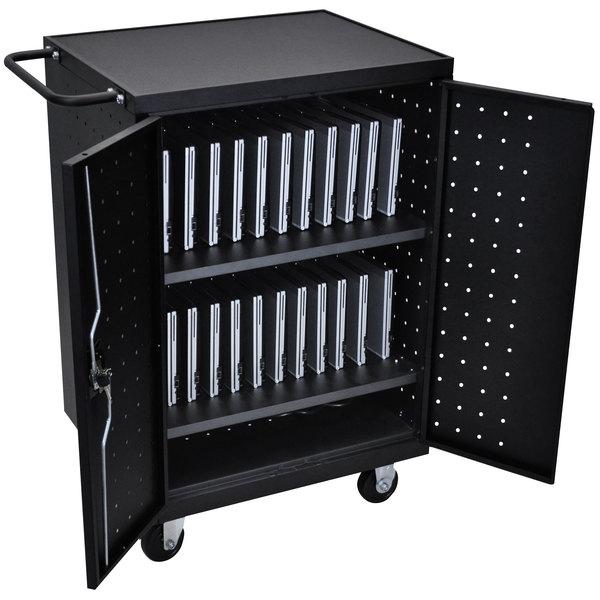 "Luxor LLTP24-B 24 Laptop Charging Cart - 31 1/8"" x 21 1/8"" x 40 1/8"""
