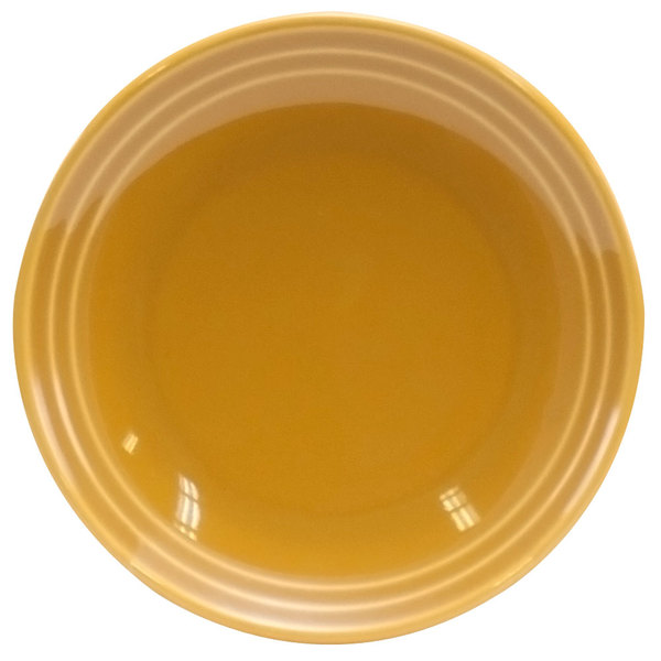"Homer Laughlin 10449518 Bosque Goldenrod 5"" Oil Dish - 36/Case"