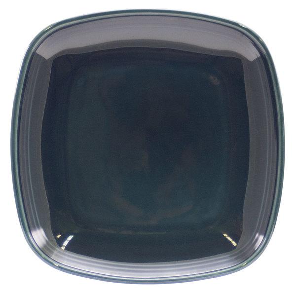 "Homer Laughlin 13309712 Bosque Blueberry 8 3/4"" Square Plate - 12/Case"