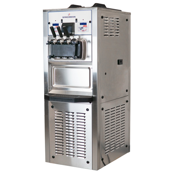 Spaceman 6378H Soft Serve Ice Cream Machine with 2 Hoppers - 208/230V, 3 Phase Main Image 1