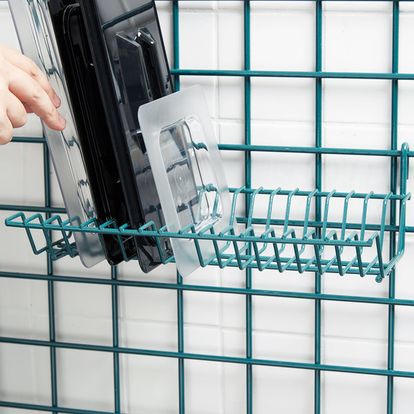 "Metro IWA-11K3 Smartwall G3 Metroseal 3 Lid Holder / Drying Shelf 8 1/4"" x 13 1/2"" x 4 1/2"""