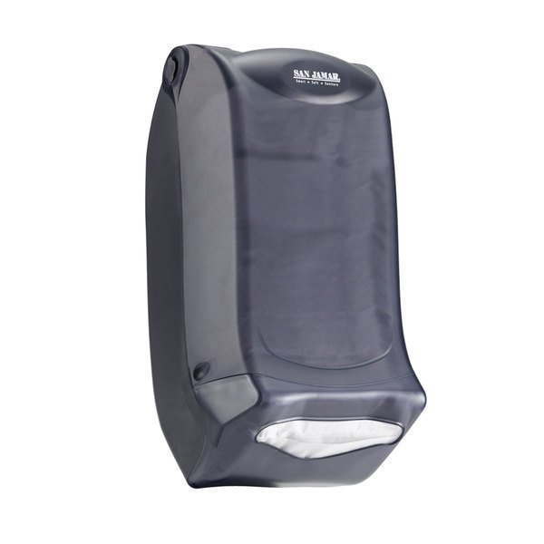 San Jamar H5003PTBK Interfold Venue Wall Mount Napkin Dispenser - Black Pearl