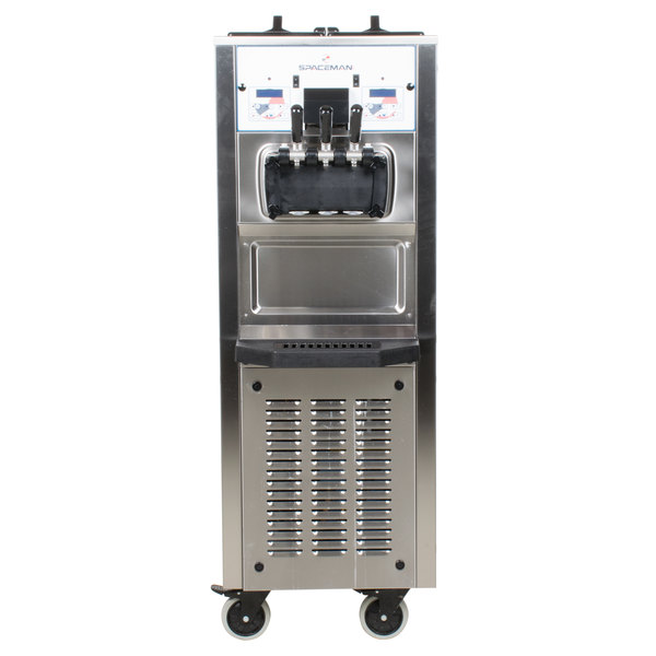 Spaceman 6260H Soft Serve Ice Cream Machine with 2 Hoppers - 208/230V, 1 Phase