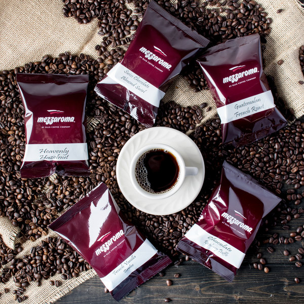 Ellis Mezzaroma 2.5 oz. Coffee Packet Sampler - 10/Box