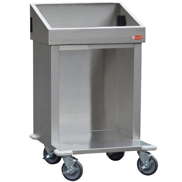 Steril-Sil E1-CRT24-2V Stainless Steel Silverware Dispensing Cart for Two E1 Inserts