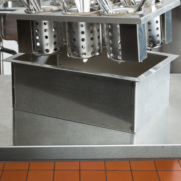 Steril-Sil E1-DDF-1VH Stainless Steel Flush-Mount Drop-In Silverware Dispenser for One E1 Insert