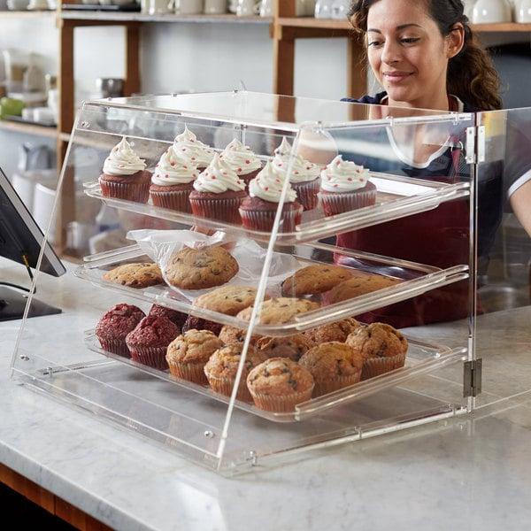 """Choice 3 Tray Bakery Display Case with Rear Doors - 21"""" x 17 3/4"""" x 16 1/2"""" Main Image 3"""