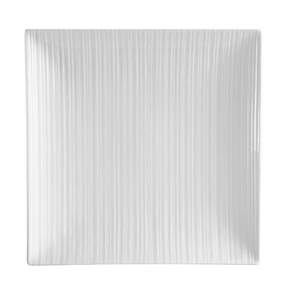 "CAC SUS-SQ8 Sushi Signature 8 3/4"" New Bone White Square Porcelain Plate - 24/Case"