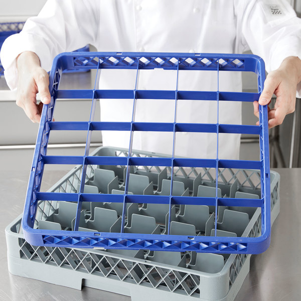 Noble Products 25-Compartment Blue Full-Size Glass Rack Extender