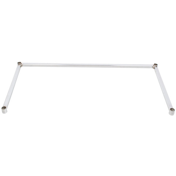 "Regency Three-Sided Chrome Epoxy 24"" x 48"" Frame for Wire Shelving"