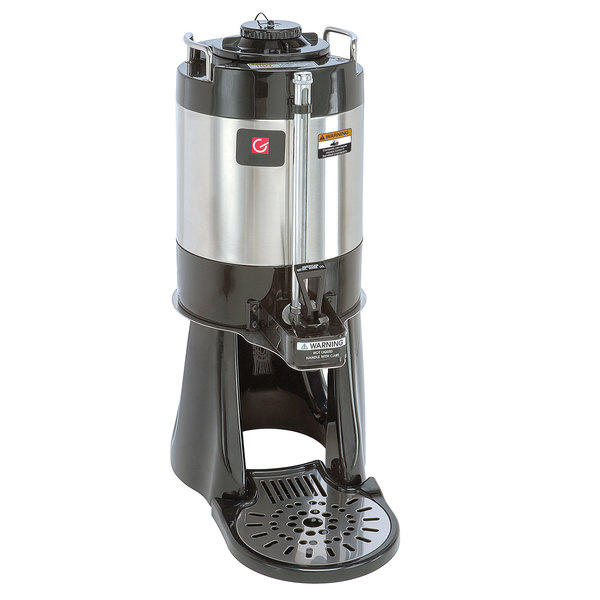 Grindmaster VS-1.5S 1.5 Gallon Stainless Steel Vacuum Insulated Shuttle with Attached Stand